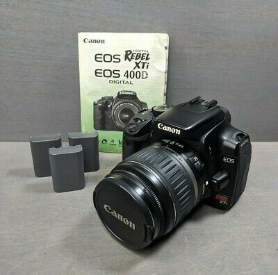 Canon EOS Digital Rebel XTi 10.1MP DSLR with Canon EF-S 18-55mm Lens