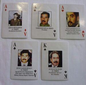 Iraqi Most Wanted Playing Cards Iraq War-Saddam Sealed NEW