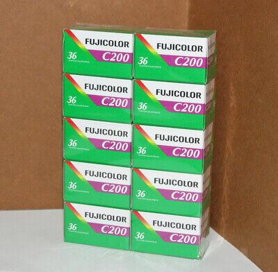 10 Pellicola 35mm Rullino fotografico Colore Fujicolor C200 ISO da 36 foto