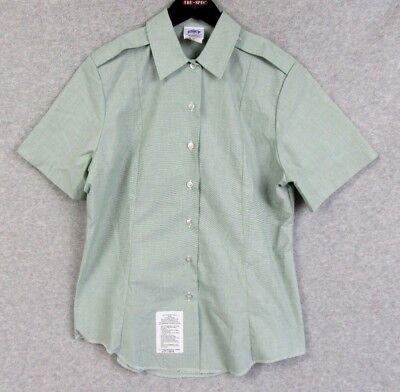 U.S. Army Class A Women's Short Sleeve AG 415 Dress Shirt Green 16R 41 New