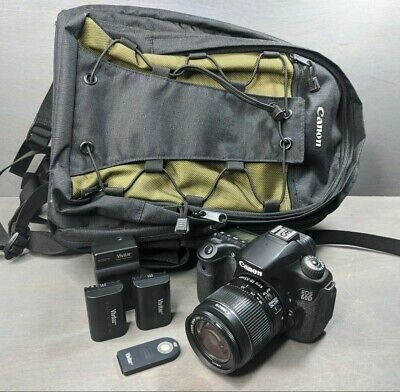 Canon EOS 60D 18.0MP DSLR Camera - Black (w/ EF-S IS 18-55mm Lens) - 16K clicks