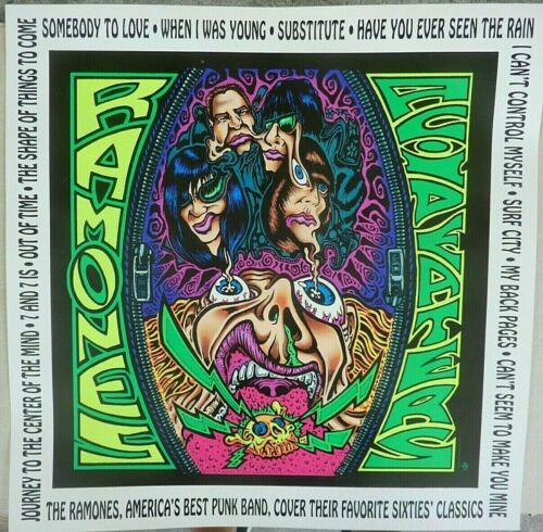 RARE THE RAMONES ACID EATERS 1993 VINTAGE ORIG MUSIC STORE PROMO DISPLAY POSTER