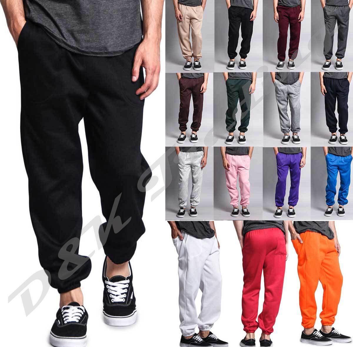 Unisex Men Women Pockets Fleece Sweatpants Workout Gym Pants
