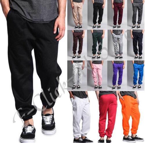 Unisex Men Women Sweatpants Solid Fleece Workout Gym Pants  Elastic Waist S- 5xl