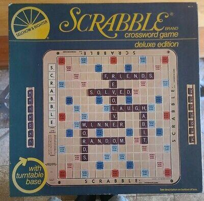 Vintage 1977 SCRABBLE DELUXE EDITION Crossword Game Complete!!