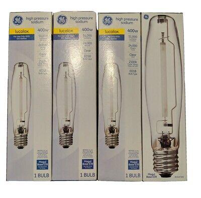 Mogul Base Clear LU400//ECO 400 Watt HPS S51 High Pressure Sodium Light Bulb Industrial Performance