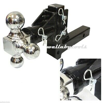 Swivel Tri Ball Adjustable Drop Raise Hitch  Trailer Tow Hitch Mount 2