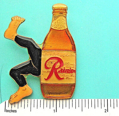Rainier Beer gives you a kick - hat pin , lapel pin , tie tac  hatpin GIFT BOXD