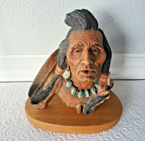 Native American Sculpture WHISTLING ELK by Neil J Rose Limited Edition 269/3500