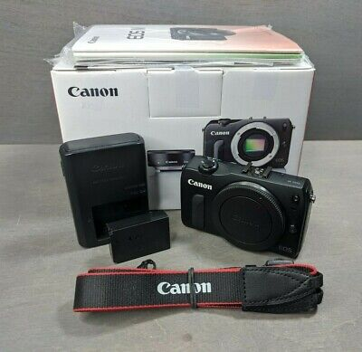 Canon EOS M 18.0 MP Digital Camera Black Body Only - Nice!