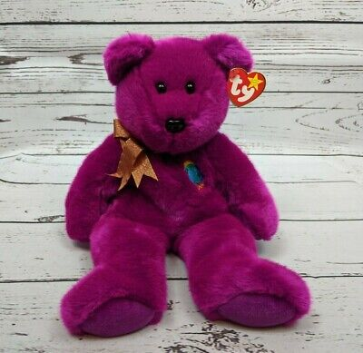 TY Beanie Buddy - MILLENIUM THE  BEAR  (14 inch) soft nice