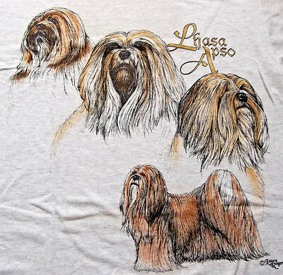 "Lhasa Apso T-shirt  "" Ash ""  Medium ( 38 ~ 40 )"