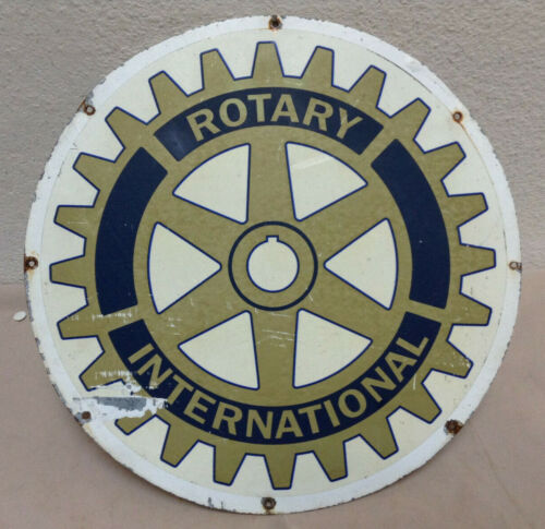 "Rotary International Sign - 11-3/4"" Metal"