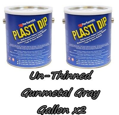 2 Gallons Gunmetal Grey Unthinned Performix Plasti Dip Concentrate Full Strength