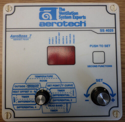Aerotech SS-4025 Natural Ventilation Control Front Panel - 90 Day Warranty