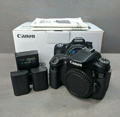 Canon EOS 70D 20.2MP Digital SLR Camera - Black (Body Only) - 730 Clicks!