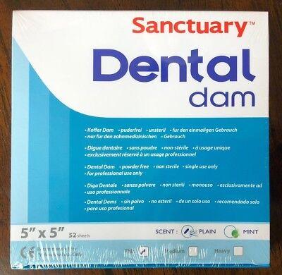 Sanctuary Dental Rubber Dam Latex 5x5 Thin 52pk Blue -------quality Guarantee