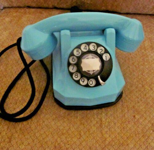 Aqua Blue & Black  Automatic Electric Model 40 Desk Telephone.