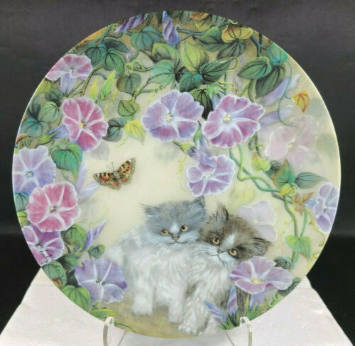 LILY CHANG Petal Pals MORNING MELODY Persian Cat Kitten Plate Vintage 🐈