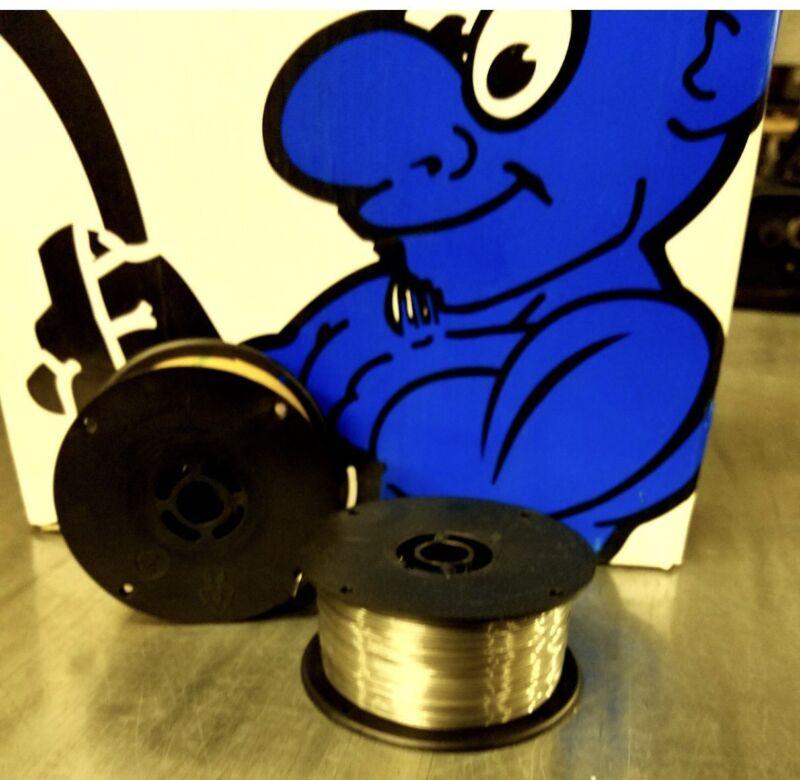 E71T-11 .030 Flux Core 2 lb 2 Pack MIG Welding Wire Spools Blue Demon USA