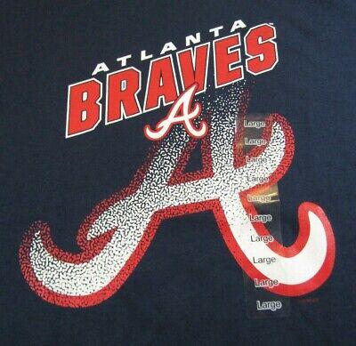 NWT Atlanta Braves t-shirt Navy Various Sizes Genuine Merchandise Reg. (Merchandise)