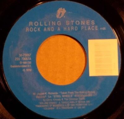 Rock And A Hard Place By The Rolling Stones 7  Single 45Rpm  1989 Columbia