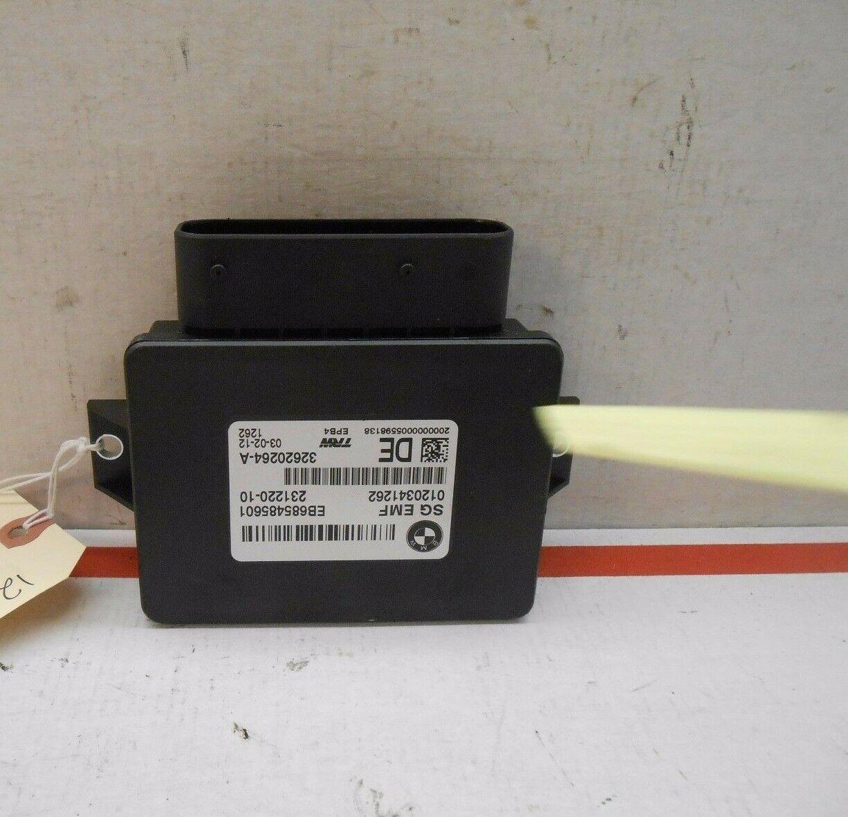 12 BMW 535i parking brake control mod EB685485601 QE0606