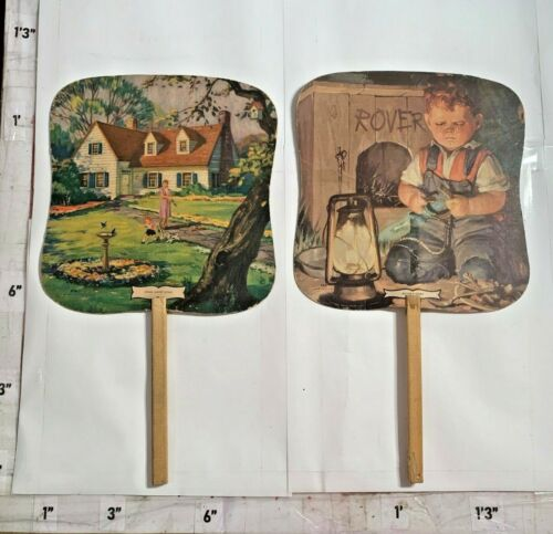2 Haines the Shoe Wizard Advertising Fans Made by Strayer-Beitzler Inc York PA