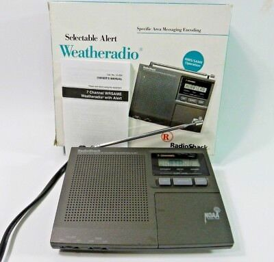 Radio Shack Weather Radio 7 channel, NWS, NOAA, Hurricane Tornado Alert 12-250