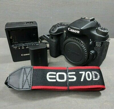 Canon EOS 70D 20.2MP Digital SLR Camera - Black (Body Only) - 10K Clicks!