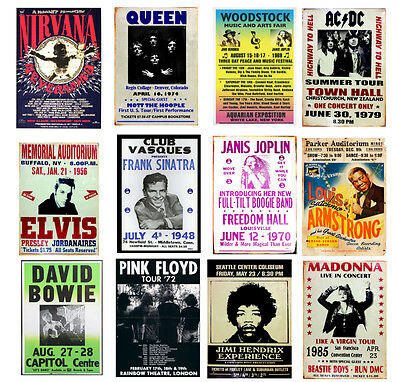Multi Concert Posters Rock
