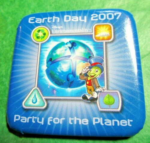DISNEY EARTH DAY 2007 PARTY FOR THE PLANET JIMINY CRICKET LAPEL PIN (#107)