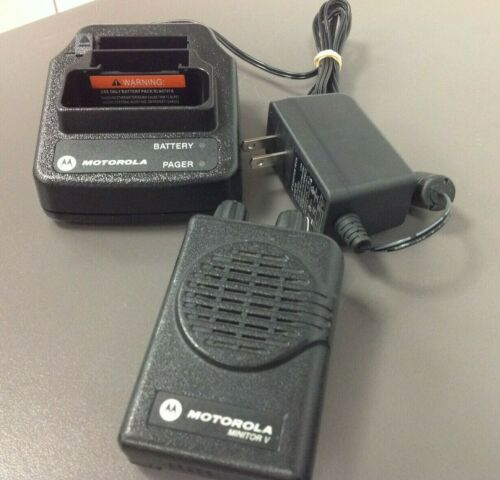 Motorola Minitor 5 Pager, Model # A03KMS9239BC, VHF, 2 CH SV, Charger, NO BAT
