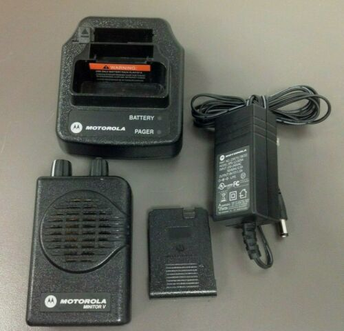 Motorola Minitor 5 Pager, Model # A03KMS9239BC, VHF, 2 CH, SV, Charger, Used BAT