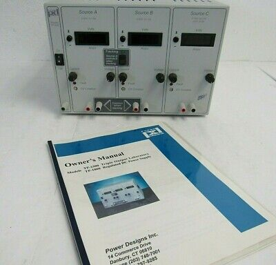 Power Designs Tp-1800 Triple Output Laboratory Regulated Dc Power Supply 10-3