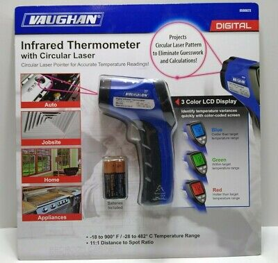 New Vaughan 3-color Lcd Digital Infrared Thermometer With Circular Laser Pointer