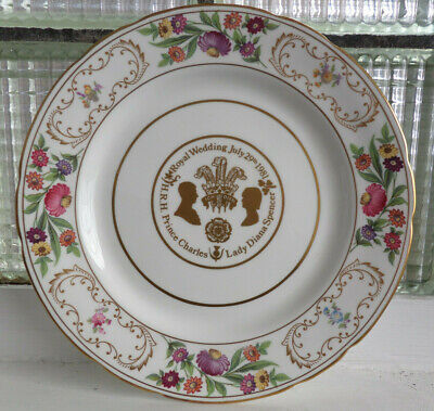 "Hammersley China Plate - Royal Wedding July 29th 1981 Charles & Di 11""  VGC"