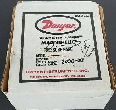 Dwyer Magnehelic 2000-00 Pressure Gauge 15psig 0-0.25 Inches Of Water 200000