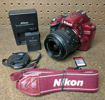 Nikon D3200 24.2MP Digital SLR Camera - Black Kit w/  DX 18-55mm  (Nikon Cameras D3200)