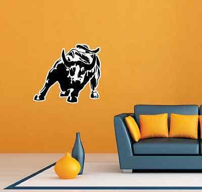 Stock Market Bull Nasdaq Room Wall Garage Decor Sticker Decal 25 X20