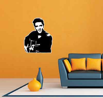 Elvis Presley Rock and Roll Music Room Wall Decor Sticker Decal - Rock And Roll Room Decor