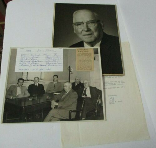 1948 Kingston NY Police Board Photo, Letter & Chief Raymond Van Buren (?) Photo