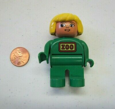LEGO DUPLO ZOO KEEPER WOMAN LADY WORKER 2.5