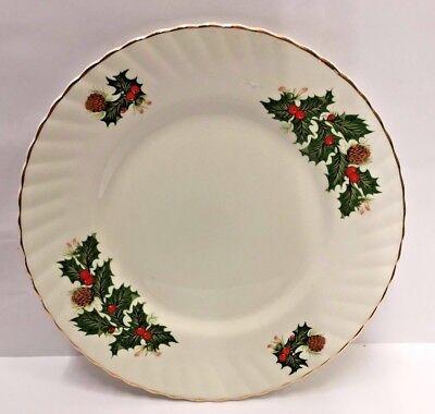 "Rosina/Queen's YULETIDE (Scalloped) 8 1/4"" Dessert/Salad Plate NEW"