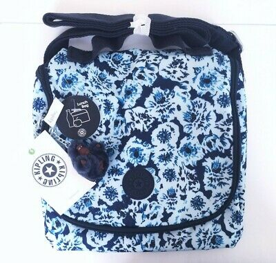 Kipling Kichirou Lunch Bag Tote Roaming Roses  NWT
