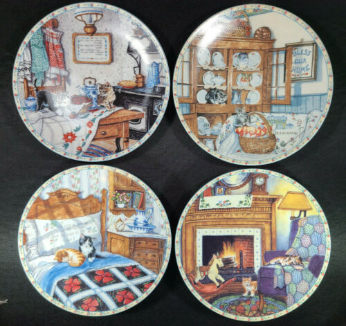 H. Ingmire Comforts Home Country Kitty Cat Knowles Collect Plate Lot Vintage 🐈