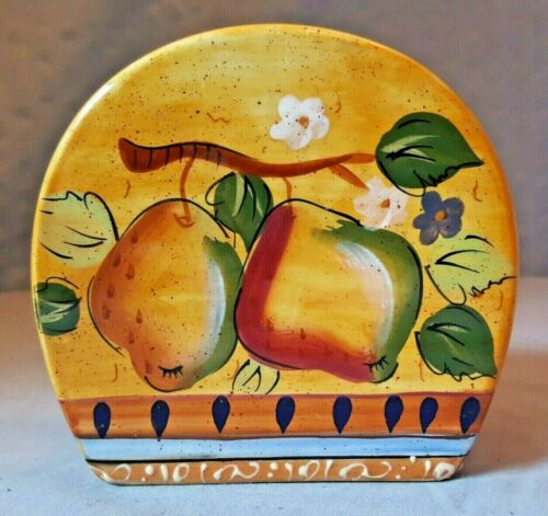Mediterranean Pear Napkin Holder by Heritage Mint