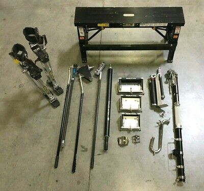 Full Columbia Dm Drywall Auto Taping Tools Set W Dura-stilts Bench Extras