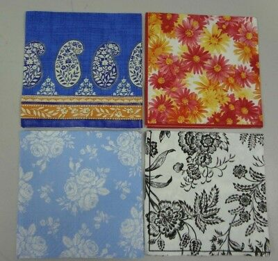 Lot of 8 Paper Napkin For Decoupage 10 x 10