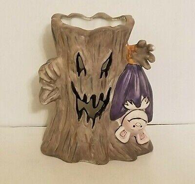 **Schmid 1988 Jacko & Friends Halloween Spooky Tree Candle Holder Vampire Bat